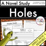 Holes Novel Study Unit Distance Learning