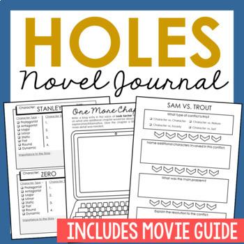 Holes by Louis Sachar Novel Unit Study Activities, Book Re