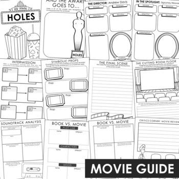 Holes Novel Unit Study Activities, Book Companion Worksheets, Project