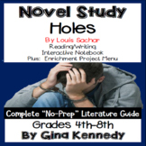 Holes Novel Study & Enrichment Project Menu