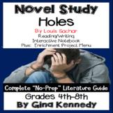 Holes Novel Study & Enrichment Project Menu