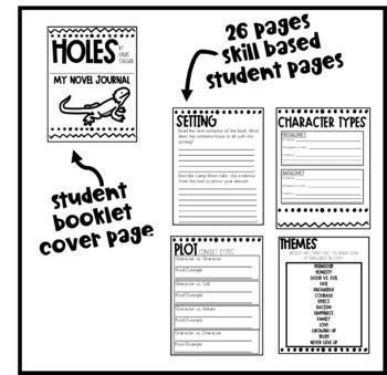 Holes Novel Study - Critical Thinking Interactive Notebook