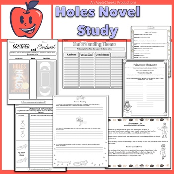 Holes Novel Study Louis Sachar AMAZING