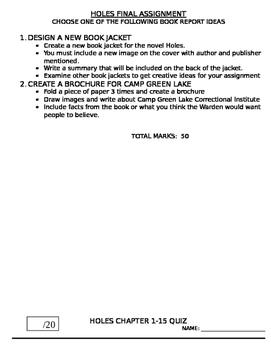 Holes Novel Study Package