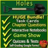 Holes NOVEL STUDY Printable and SELF-GRADING GOOGLE FORMS