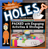Holes Novel Study Unit: Lesson Plans, Activities, Printables-Louis Sachar's book