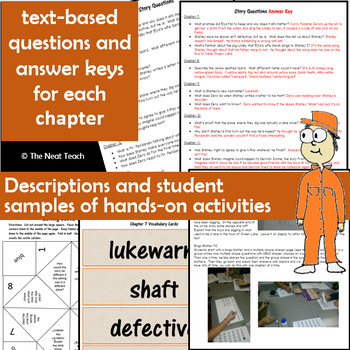 Holes Novel Study Unit: Lesson Plans, Activities, Printables-Louis Sachar's book