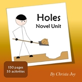 Holes Novel Study for Special Education with comprehension