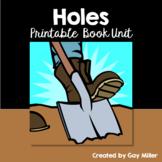 Holes Novel Study: vocabulary, comprehension questions, writing, skills [Sachar]
