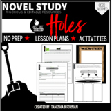 Holes Novel Study with Lesson Plans Common Core Aligned