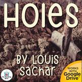 Holes Novel Study Book Unit Printable and Google Drive formats