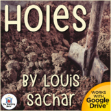 Holes Novel Study Book Unit Printable and for Google Drive Distance Learning