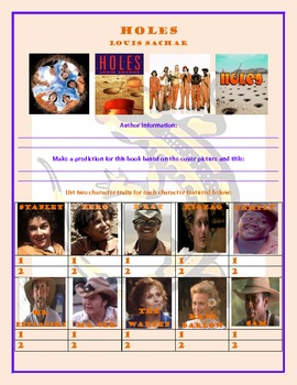 Holes Novel/Book Study and Activities