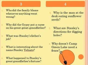 Holes by Louis Sachar PowerPoint Study Guide