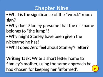Holes Questions Powerpoint (Chapters 1 to 20)