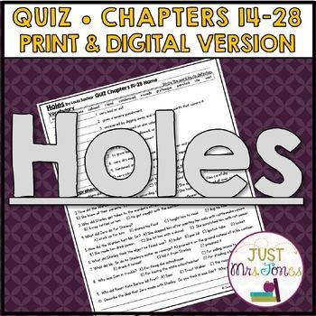 Holes Quiz 2 (Ch. 14-28)