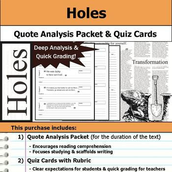 Holes - Quote Analysis & Reading Quizzes