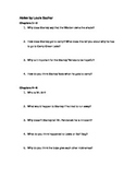 """Holes"" Reading Comprehension Questions"