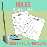 Holes Reading Questions