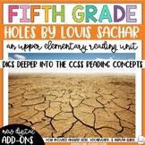 Holes   Novel Study Reading Unit   5th Grade   Digital   Distance Learning  