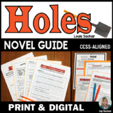 HOLES Novel Study - A Standards-Aligned Novel Guide 5 - 8