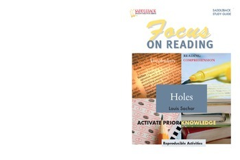 Holes Study Guide: Focus on Reading