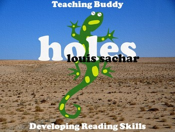 Holes by Louis Sachar Pack - PowerPoint lessons, Unit Plan and worksheets