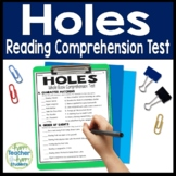 Holes Test: Final Book Quiz with Answer Key