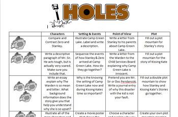 Holes Thematic Novel Unit