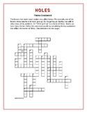 Holes Theme Crossword Based on Carefully Selected Quotations—Unique!