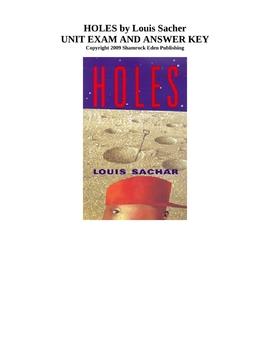 Holes Unit Exam and Answer Key