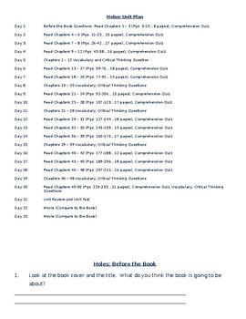 Holes (Unit Plan)