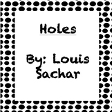 Holes Vocabulary by Chapter