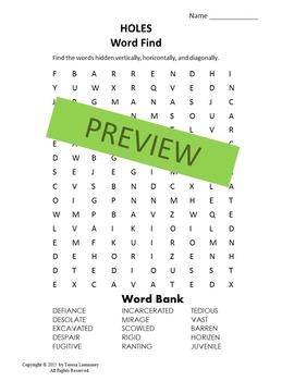 Holes Word Find {Bell Ringer}
