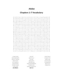 Holes Word Search Packet for Chapters 1-50