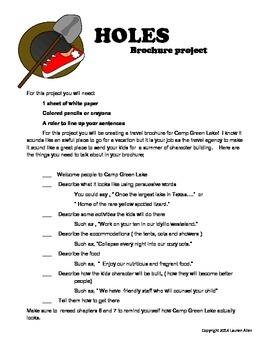Holes book  brochure project