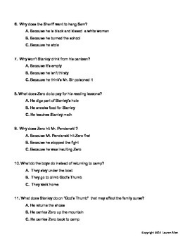 Holes book chapter 18-39 quiz basic and sped,esl level
