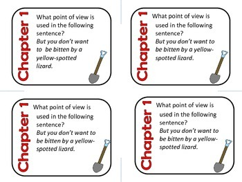 Holes by Louis Sachar Comprehension Task Cards