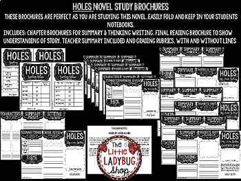Holes Novel Study by: Louis Sacher [Book Report Template]