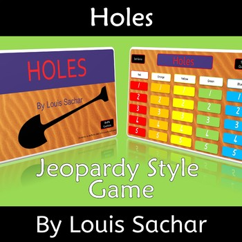 Holes by Louis Sachar Novel Study Review Jeopardy Game