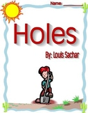 Holes by Louis Sachar Literature Circle Reading Response Packet