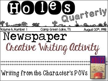 Holes - Novel Study - Louis Sachar - Creative Writing