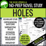 Holes Novel Study - Distance Learning - Google Classroom compatible