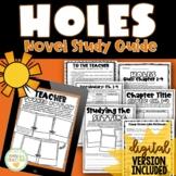 Holes by Louis Sachar {Novel Study}   Digital + Printable