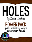 Holes by Louis Sachar Power Pack:  40 Journal Prompts and 10 Quizzes