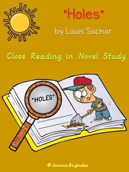 Holes: reading comprehension journal