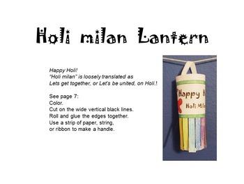 Holi! Holi! Holi! A Hindu Spring Holiday! Learn * Write * Color * Craft