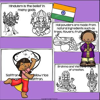 Holi Mini Book for Early Readers