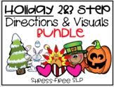 Holiday 2 & 3 Step Following Directions with Visuals Bundle!