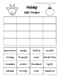 Holiday ABC Order Practice Worksheet